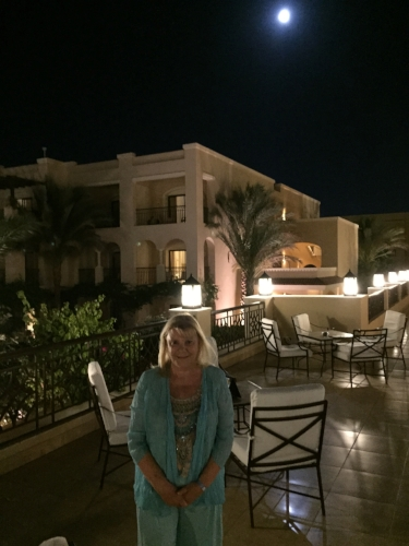 2016 Under a full moon at Jaz Aquamarine Resort in Hurghada
