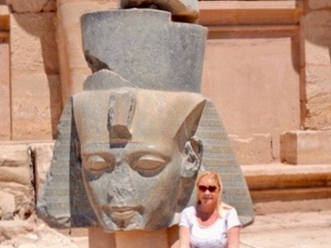 2014 with Rameses II at Ramasseum