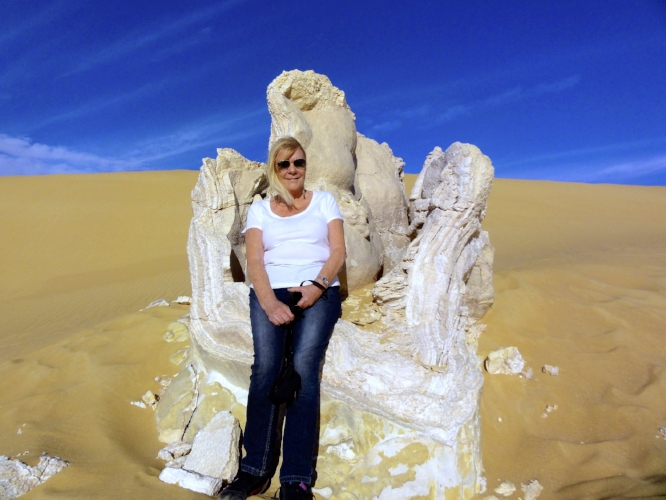 2012 with Limestone formation in the White Desert