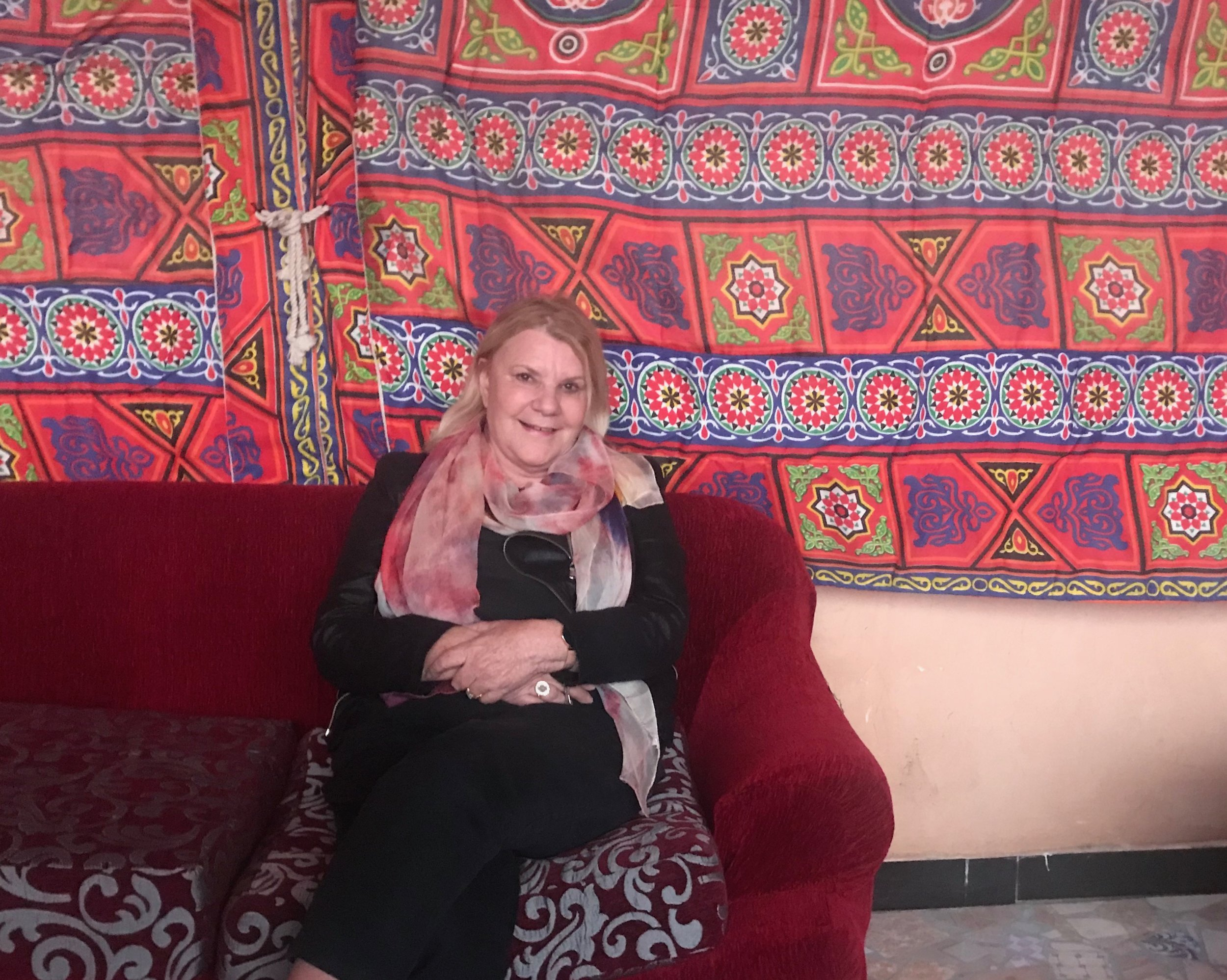February 2018 relaxing at The Loft Guest House, Giza