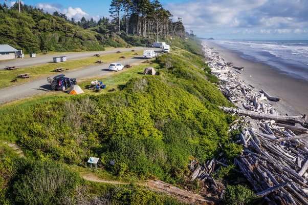 South Beach Campground | Olympic National Park, Forks WA     photo via Campendium user Laura Domela