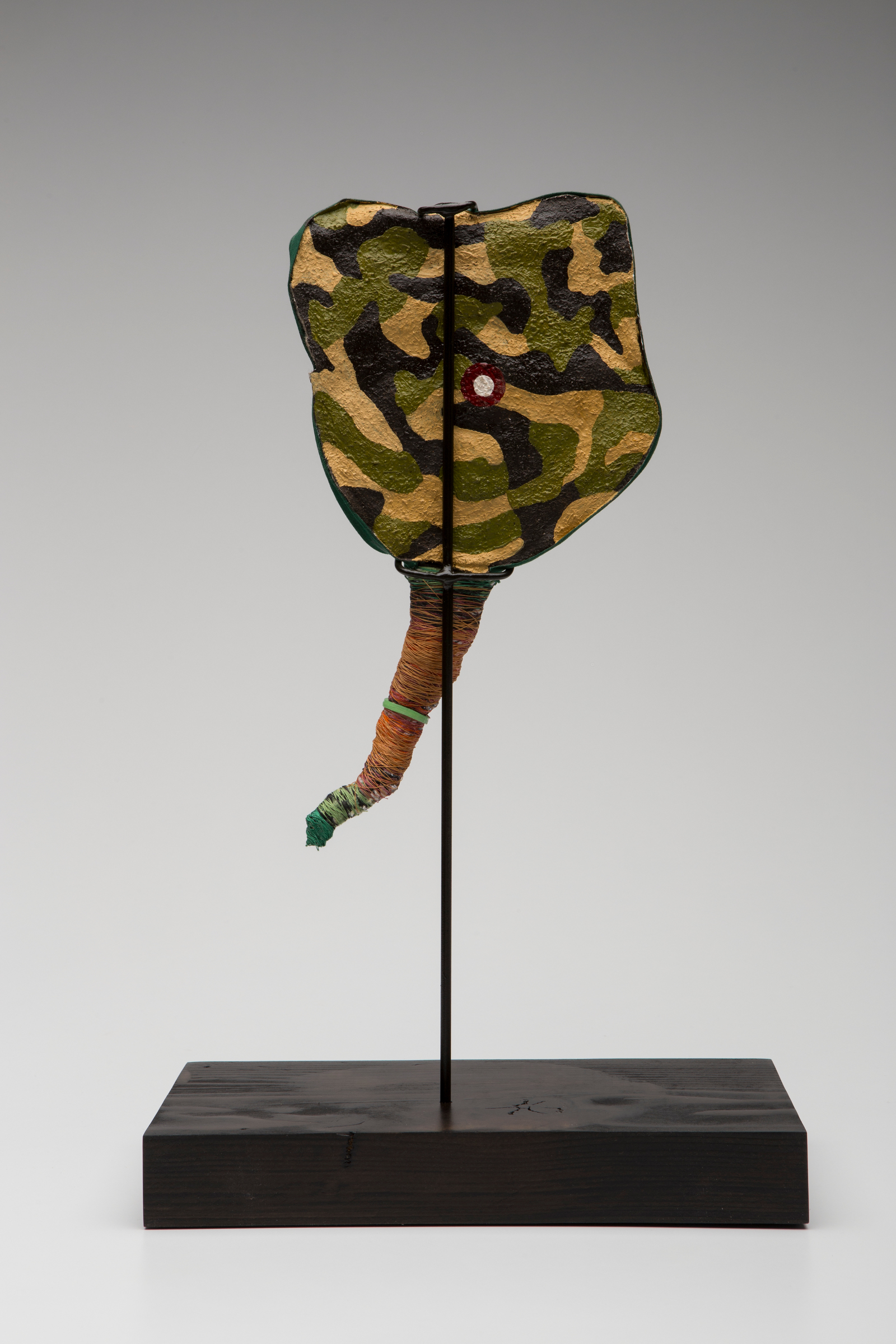 Prayer Paddle: Eros (back view) , mixed media, 10 by 7 inches, 2007-2014.