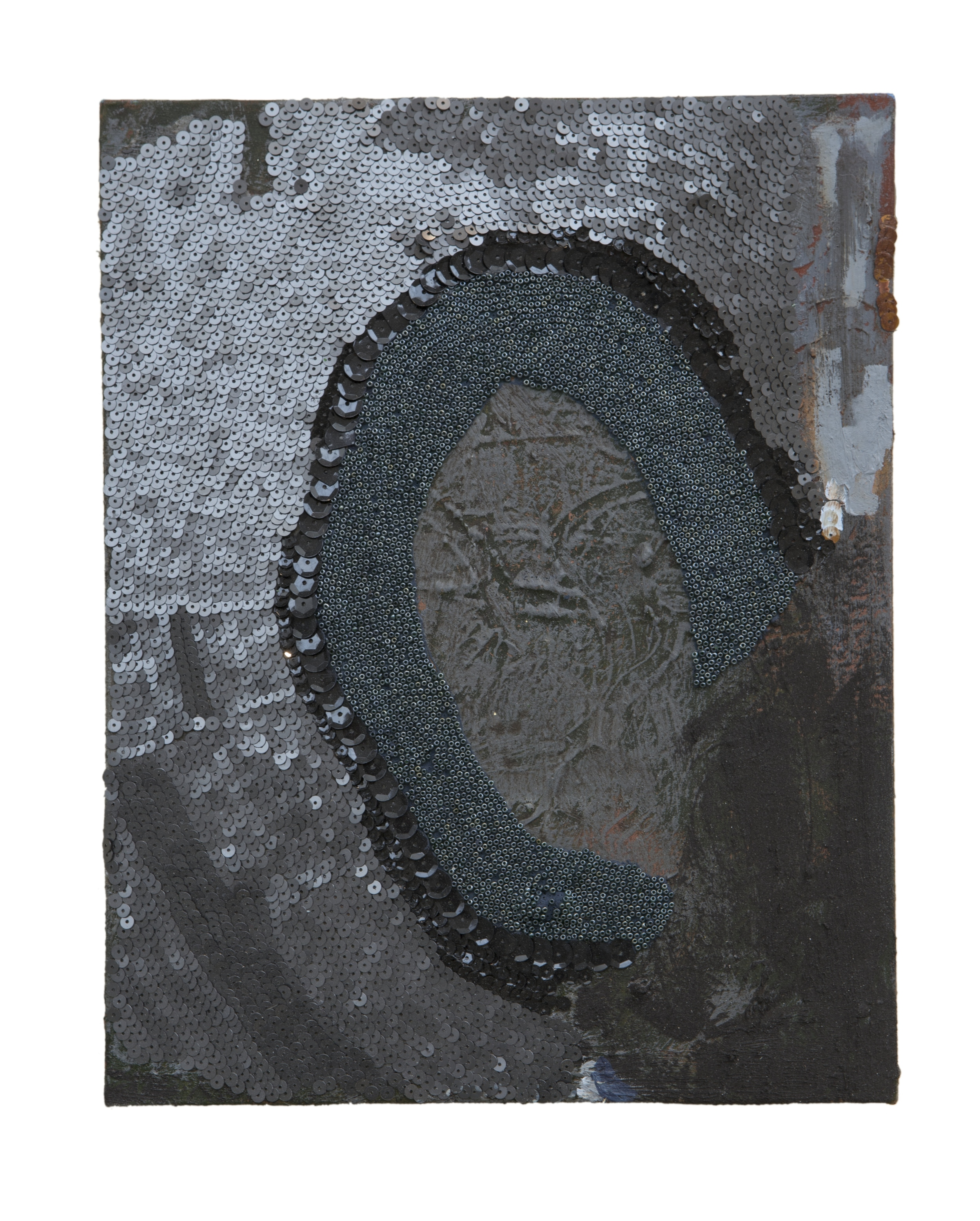 "Alphabets and Earth: South Africa, mixed media, 14"" by 11"", 2014-2015."