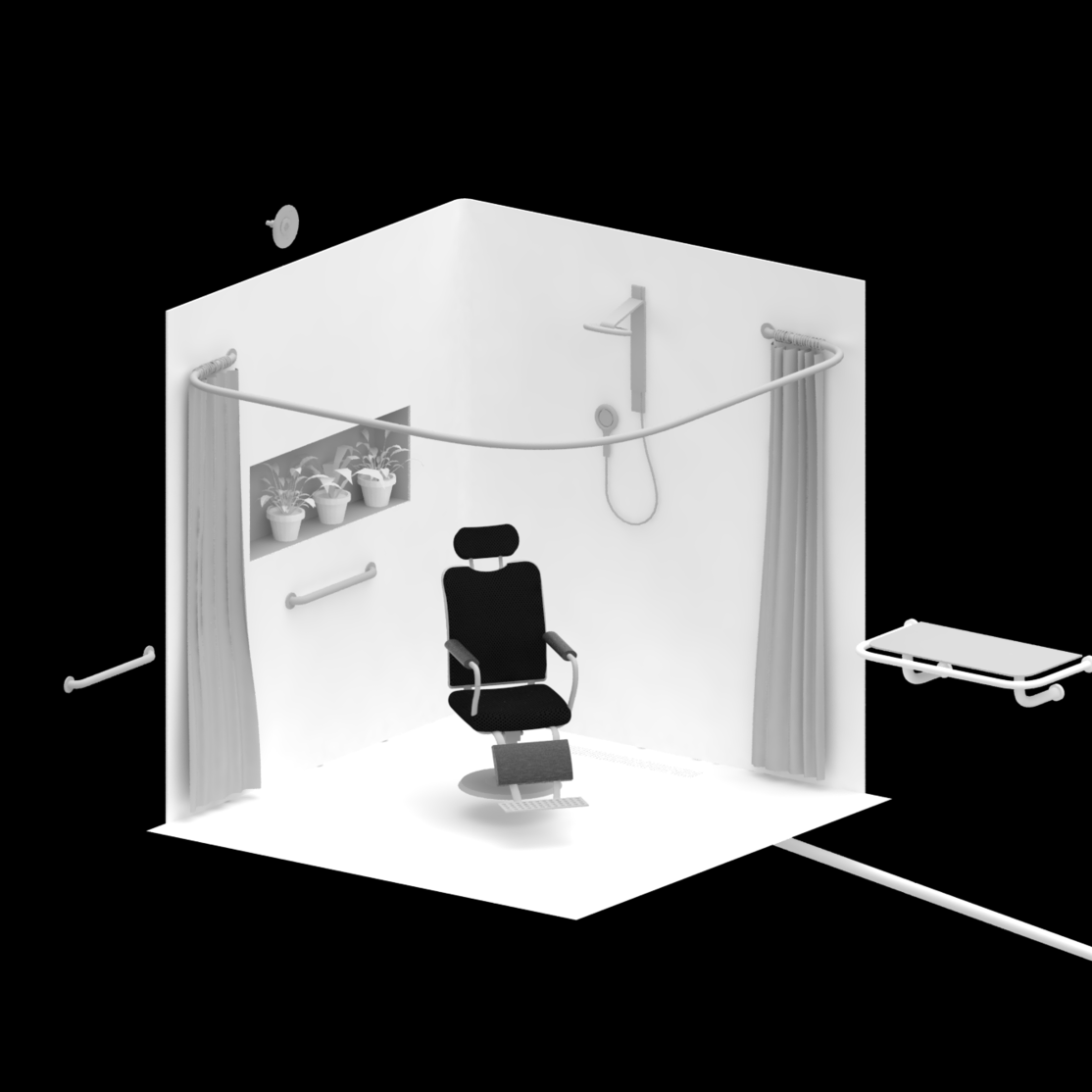 Research:                  Humanizing showers for elders with dementia - How might we maximize dignity, comfort, and safety for both a senior with dementia and his or or her carer during the showering experience?Link to project summary —>