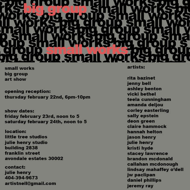 Big Group, Small Works group art show