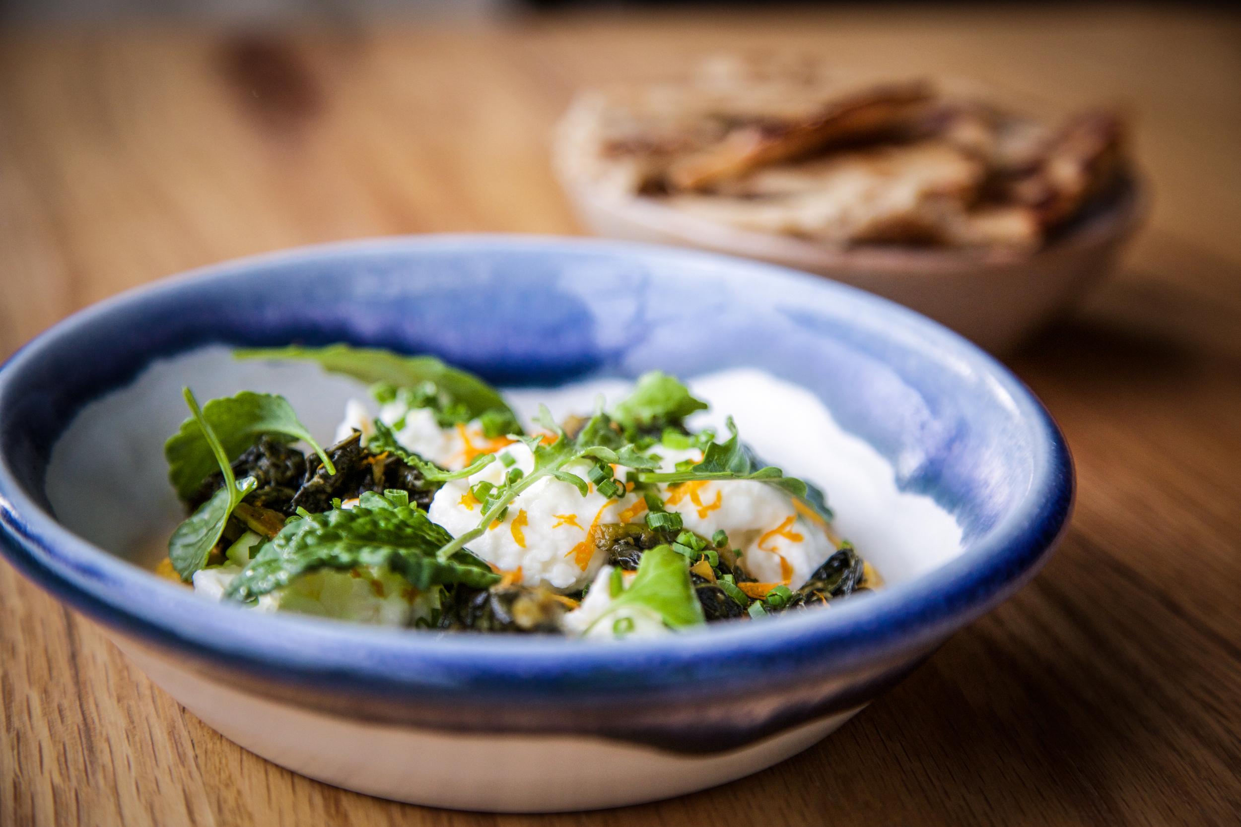Burrata + Foraged Green Pesto