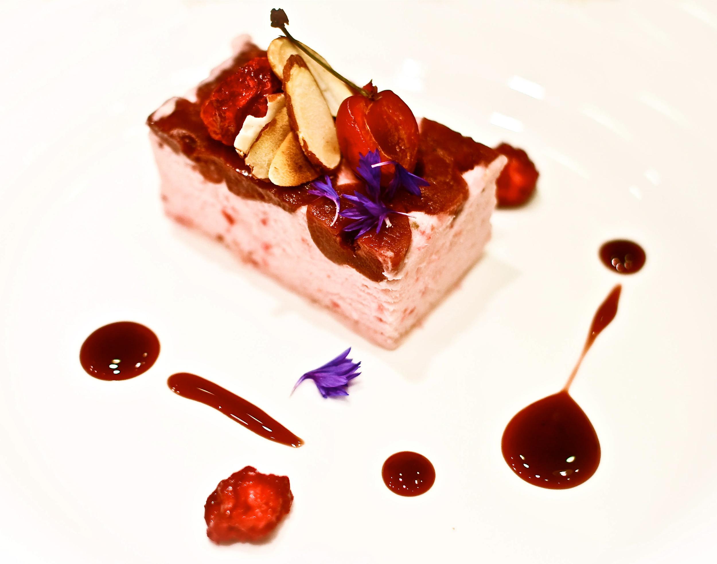 Frozen Cherry Soufflé