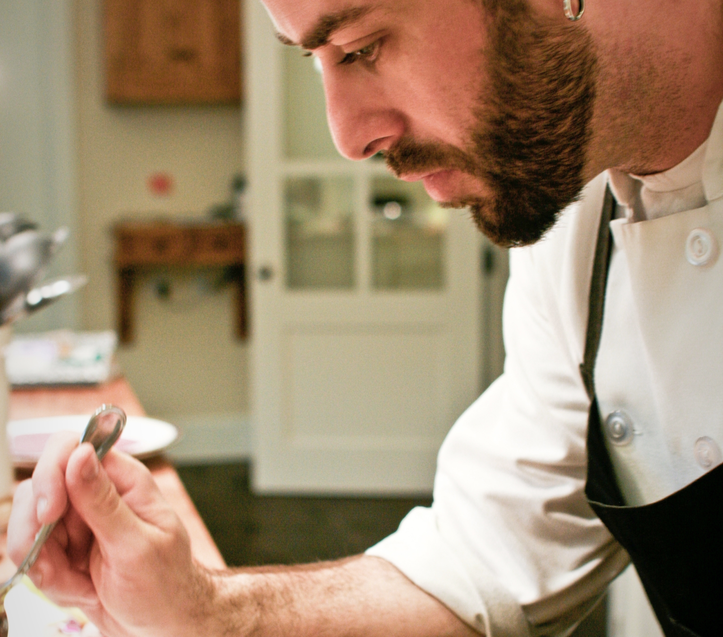 Deep concentration plating a dish