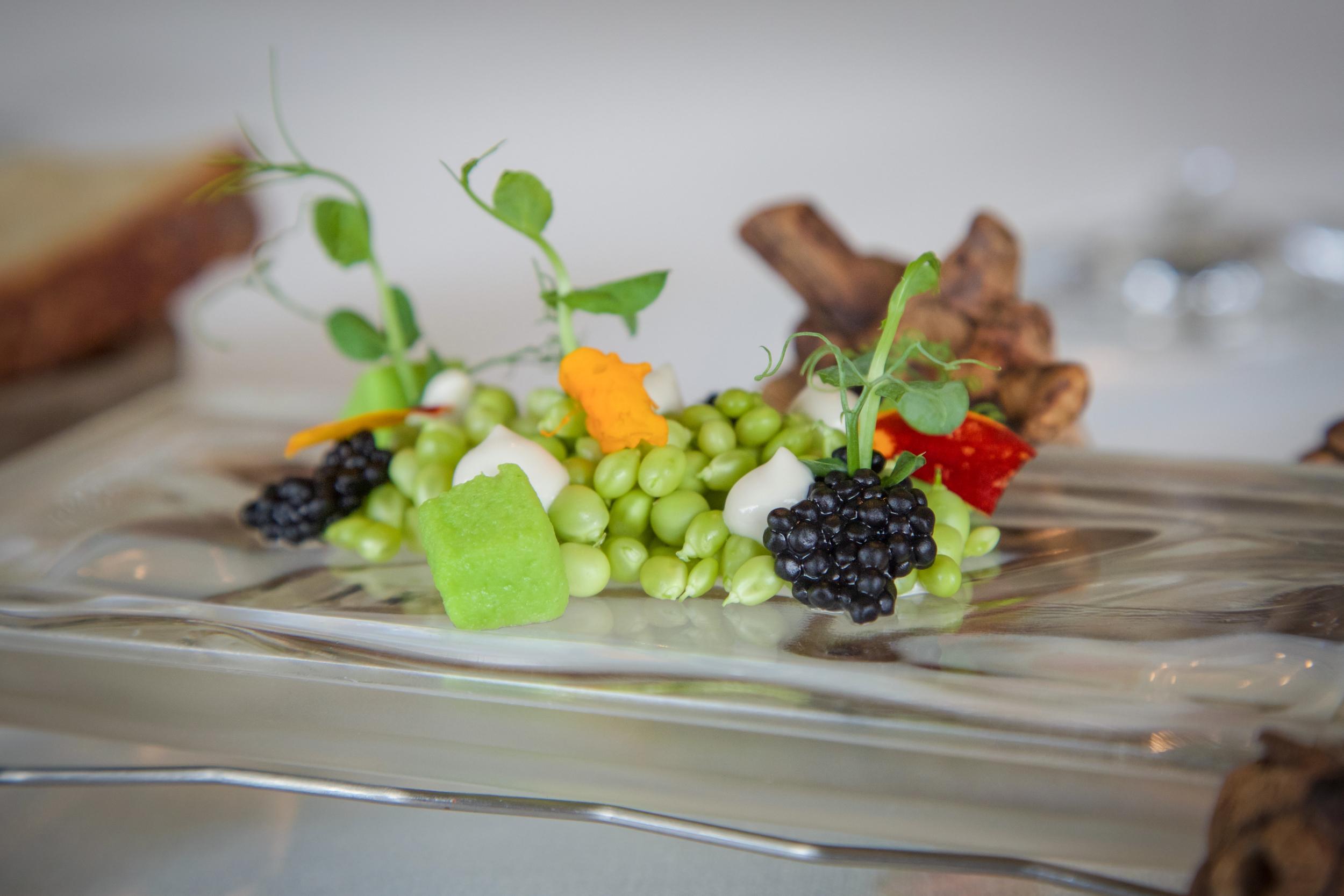Tea Drop Peas + Caviar