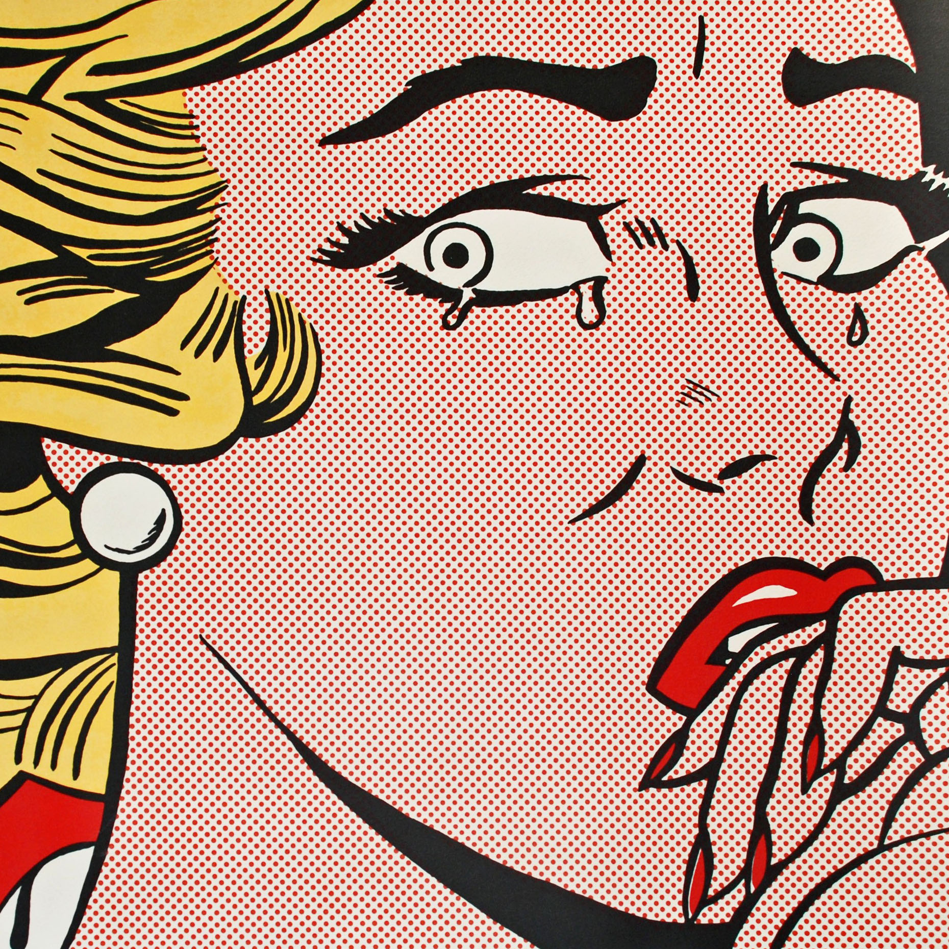 THE CRYING GIRL BY ROY LICHTENSTEIN