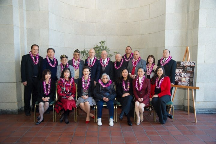 14 of our 16 honorees (or their descendants) were able to attend our celebration in person.