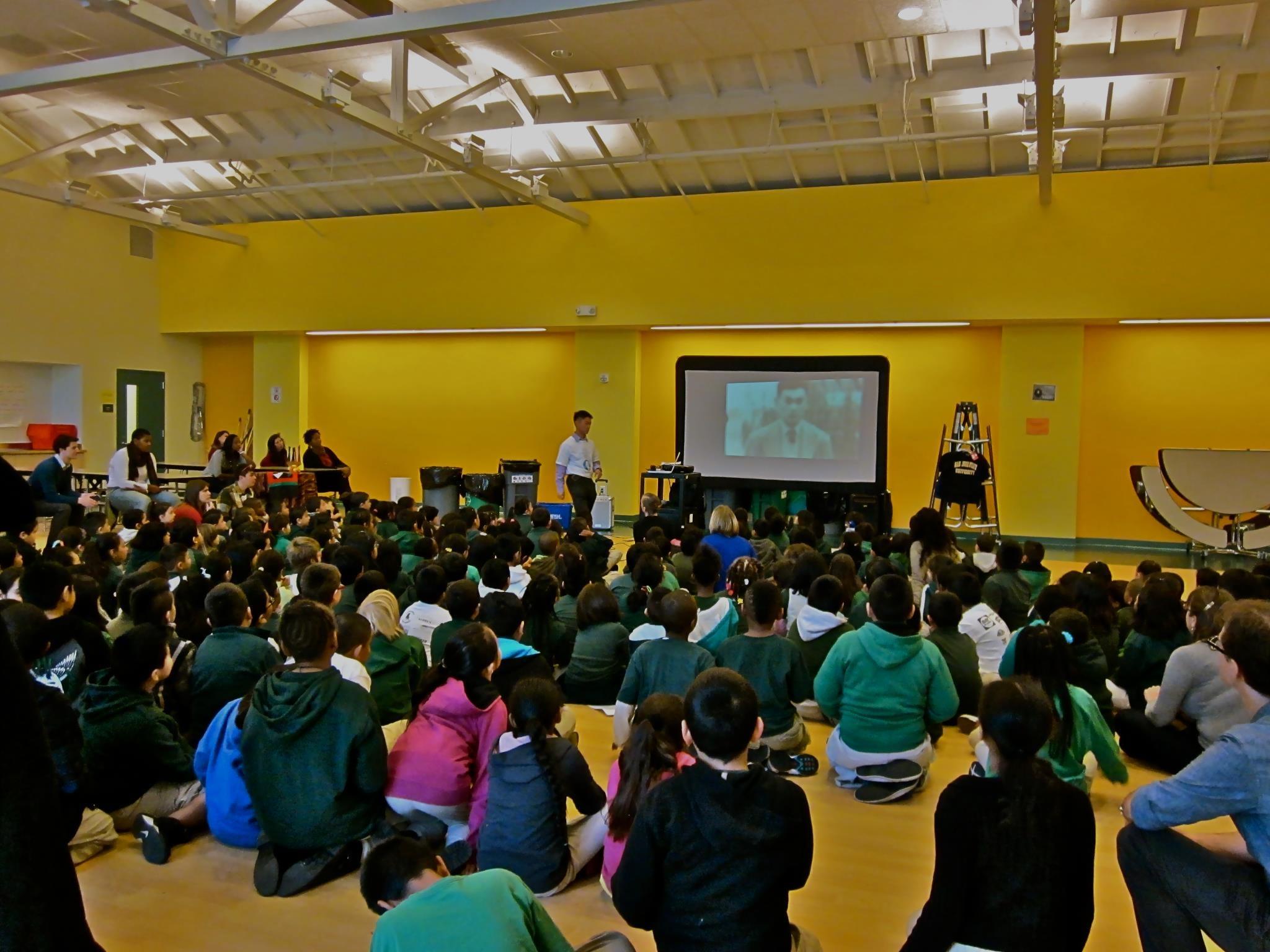 Lighthouse Community Charter School assembly