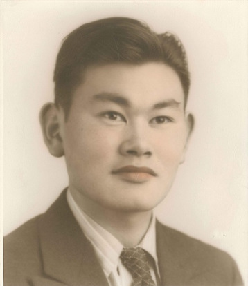 Fred T. Korematsu. Hand-colored gelatin silver print, c. 1940. National Portrait Gallery, Smithsonian Institution; gift of the Fred T. Korematsu Family.