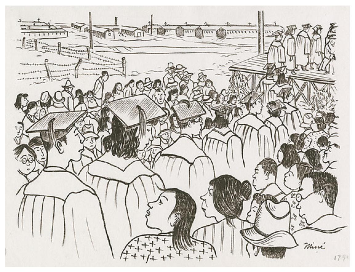 Topaz drawing by Mine Okubo p.9 - 150 graduated 1st high school graduation class
