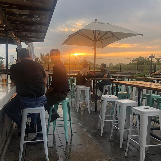 The rain is gone!!! ⛅️   Happy Hour until 7! #nofilter