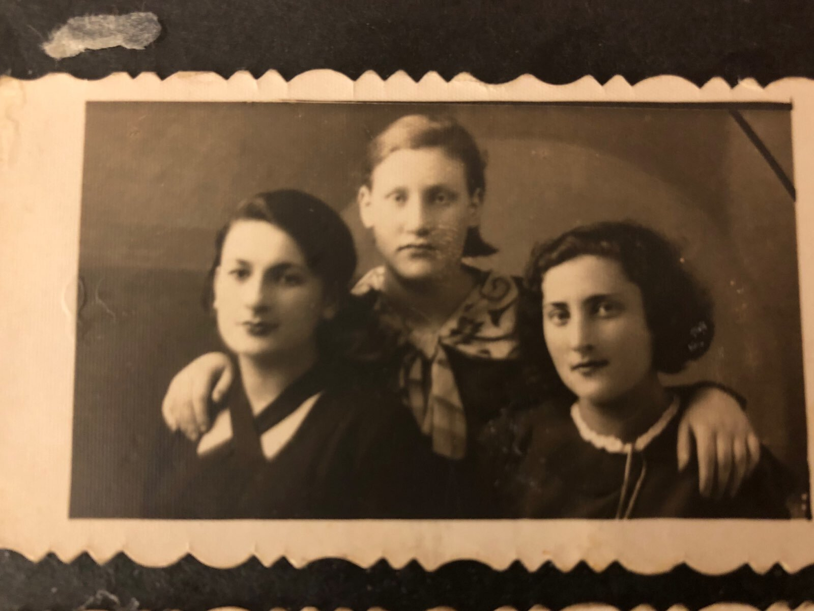 A photo from my grandmother's album. I don't know who they are. Could they be her sisters?