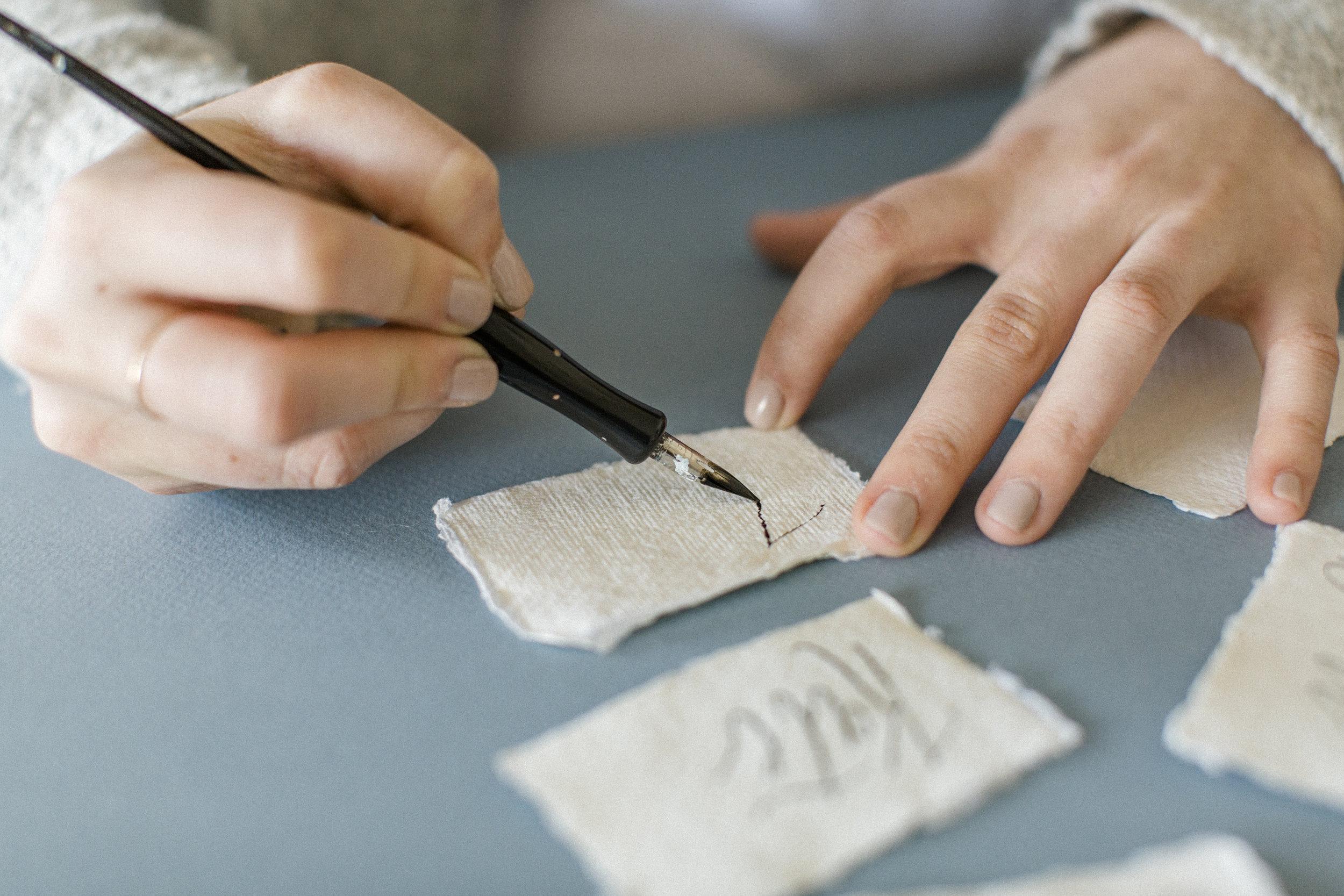 atlanta wedding calligrapher