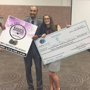 My husband and I after winning the 2017 Springboard Ideas Challenge!