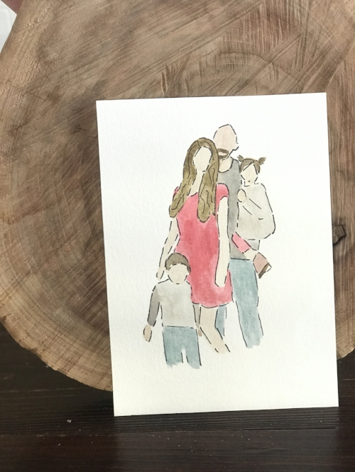 Get a family water color portrait for $25 (5x7) now through Valentines Day!