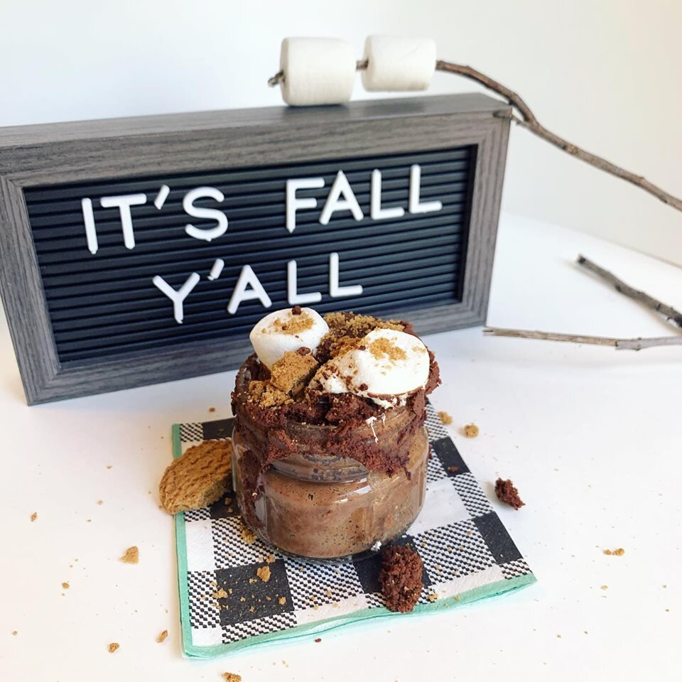 1 Minute S'mores Cake