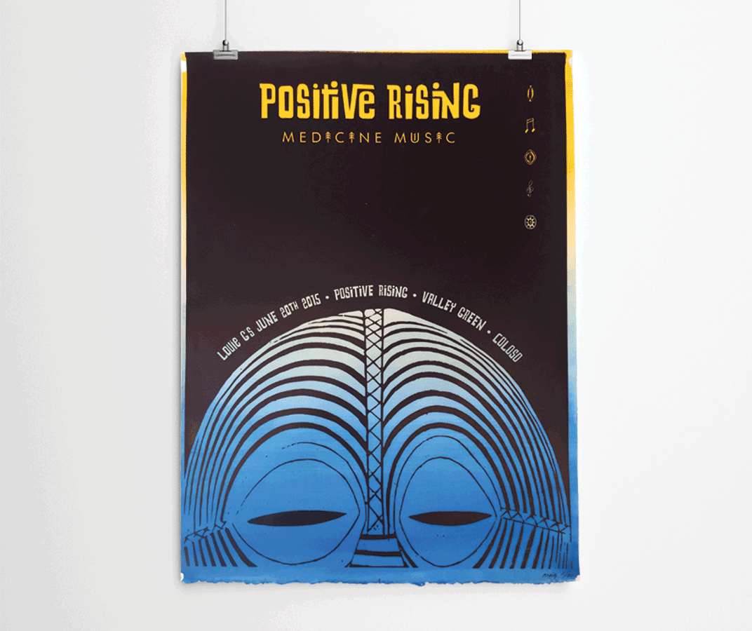 Positive Rising Poster Design