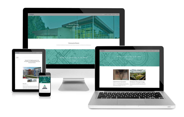 Constructive Element Webpage Design