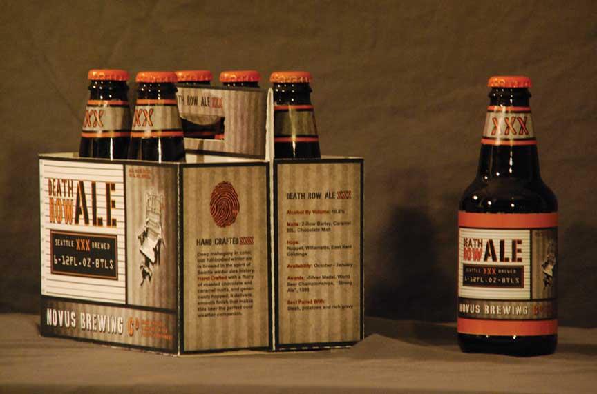 Death Row Ale Sixpack Design