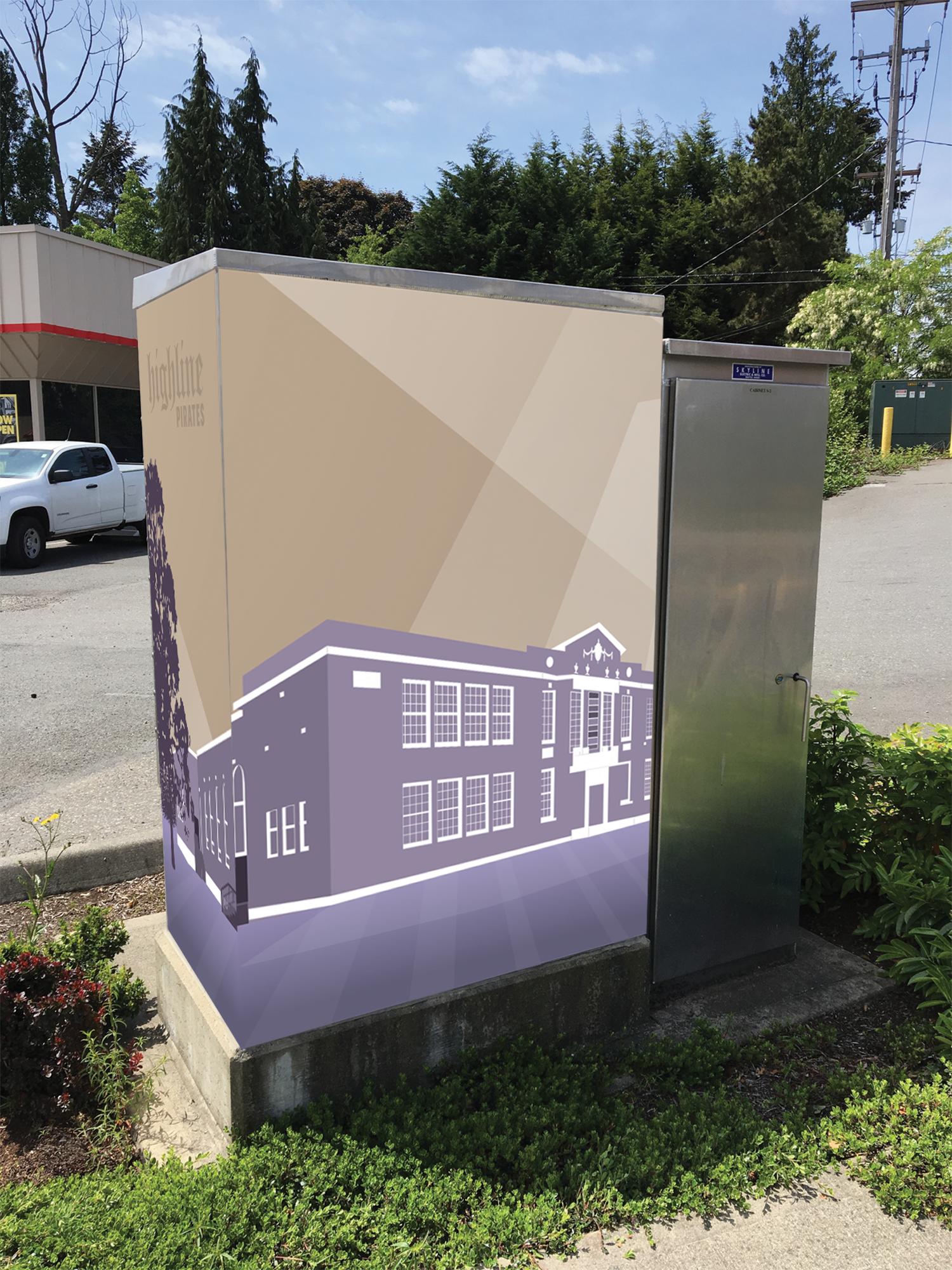 Highline High School Traffic Signal Control Box