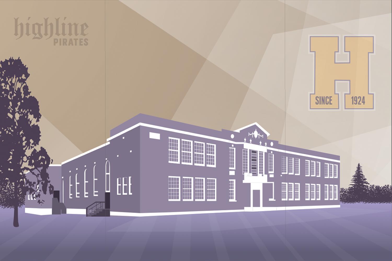 Highline High School Illustration