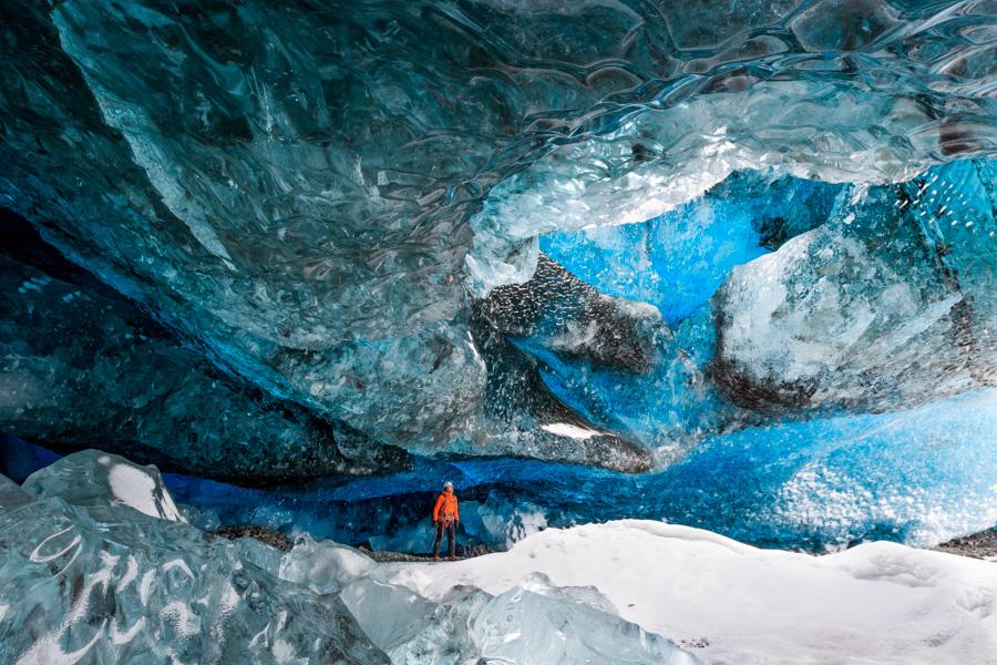 Sapphire ice cave