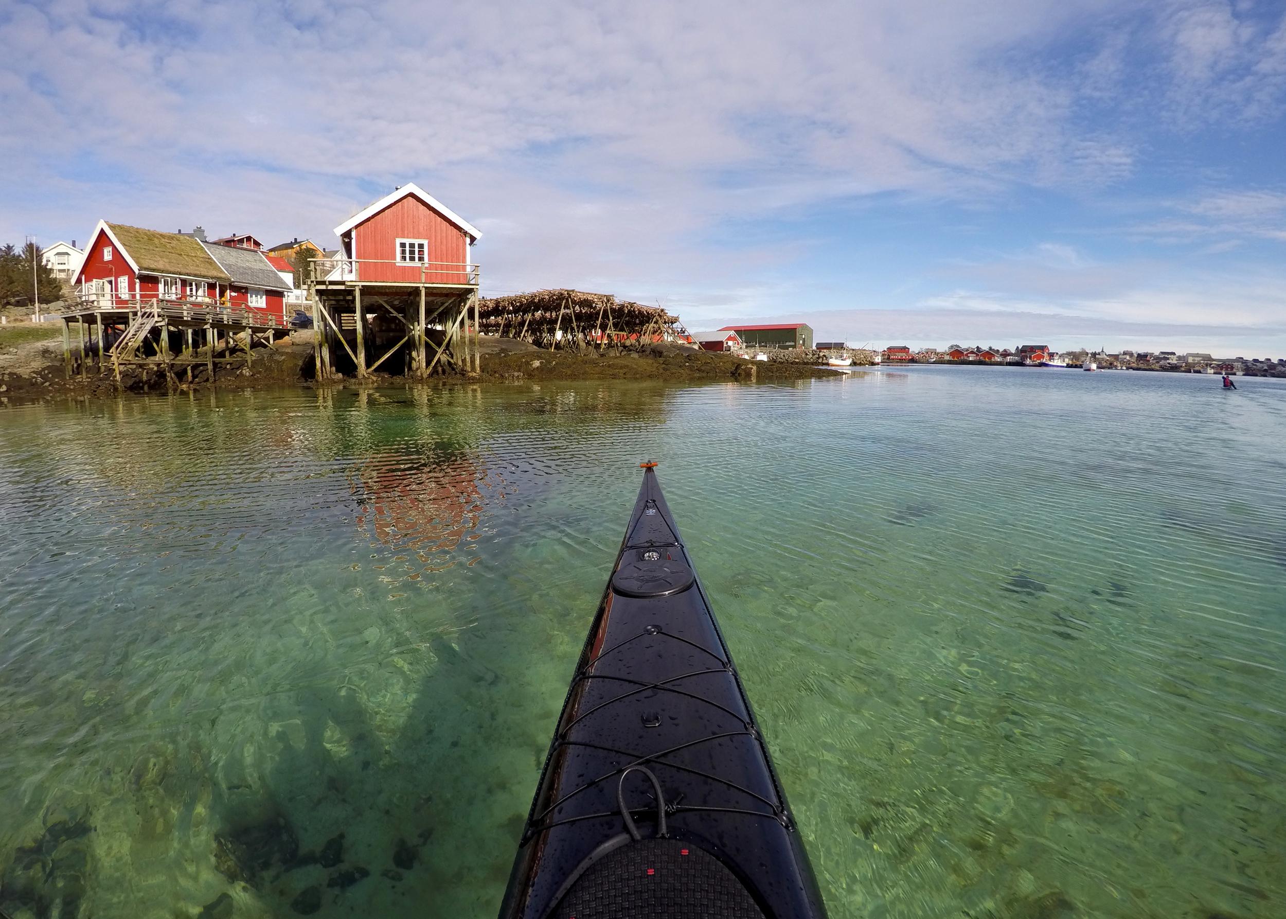 Arriving in Reine. Lofoten islands, Norway