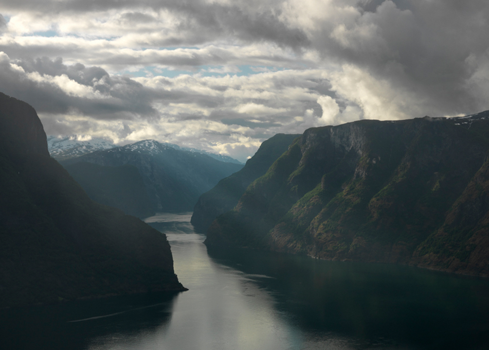 Stunning views from the Aurland Lookout platform.