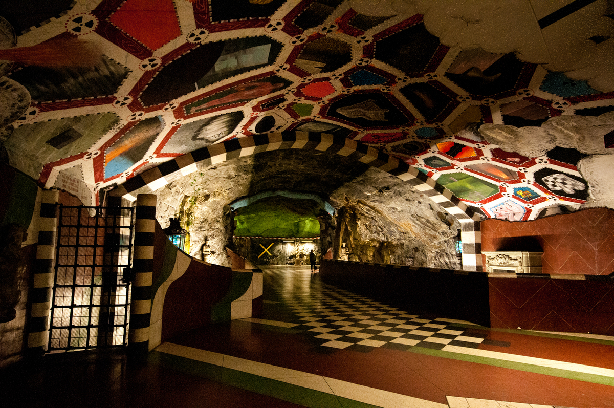 In 1977, Ulrik Samuelson transformed Kungsträdgården station into an underground garden to reflect the rich history of this Stockholm suburb and the former 17th-century Makalos palace, built on the same site for one of Sweden's most famous families, before being destroyed in 1825 following a fire.   Photo credit: Lola Akinmade Åkerström