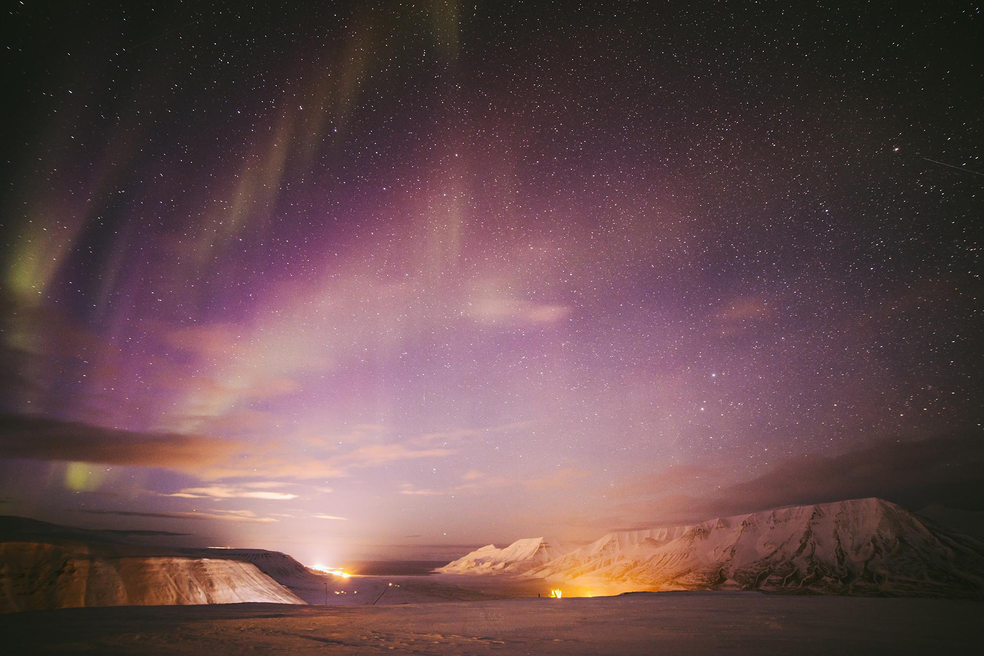The beauty of polar night on Svalbard, December 2015.