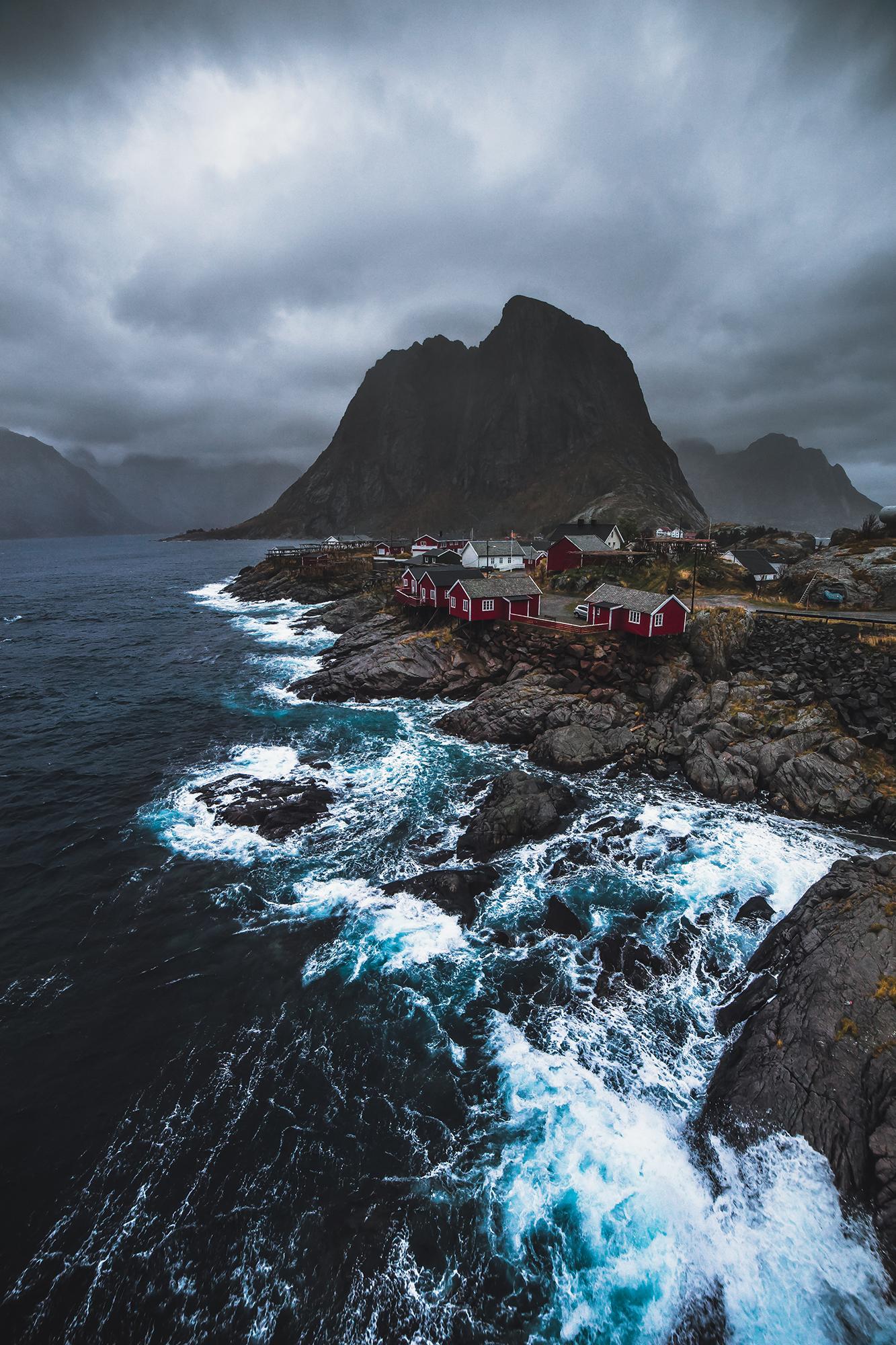 Stormy Hamnøy, Lofoten, October 2016
