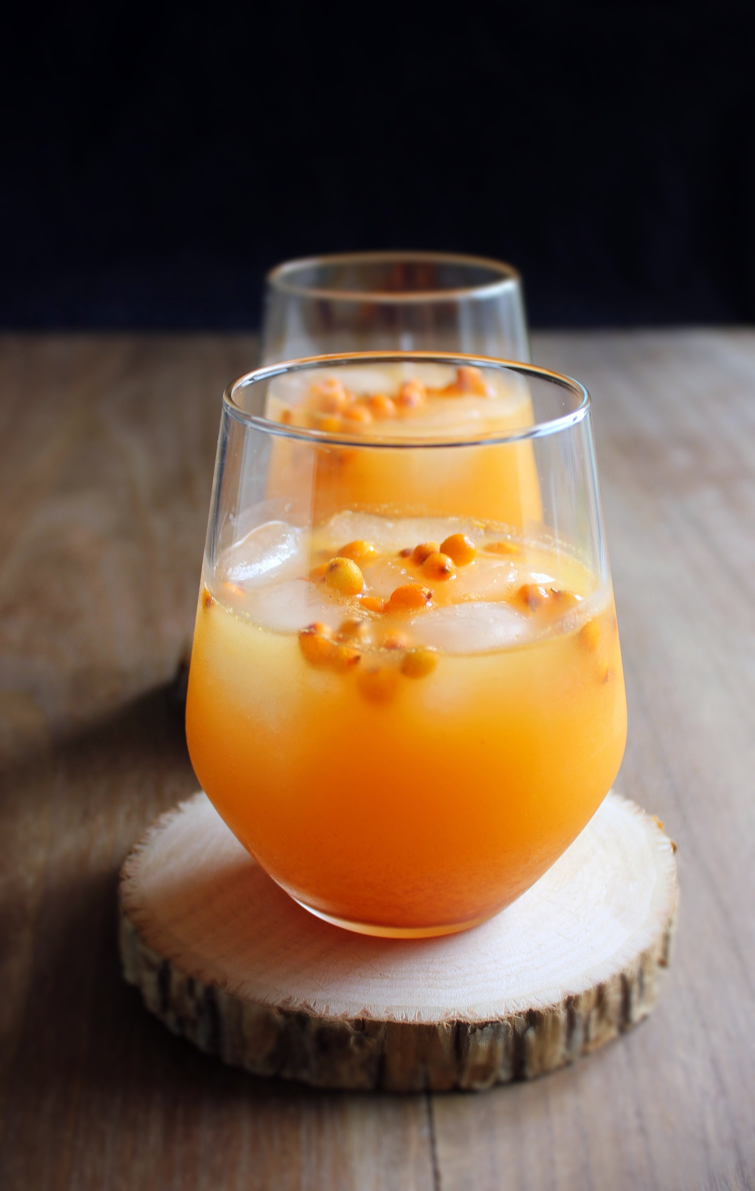 """This is my sea buckthorn lemonade. I always like to pick these sour berries by the shores of Denmark in October """
