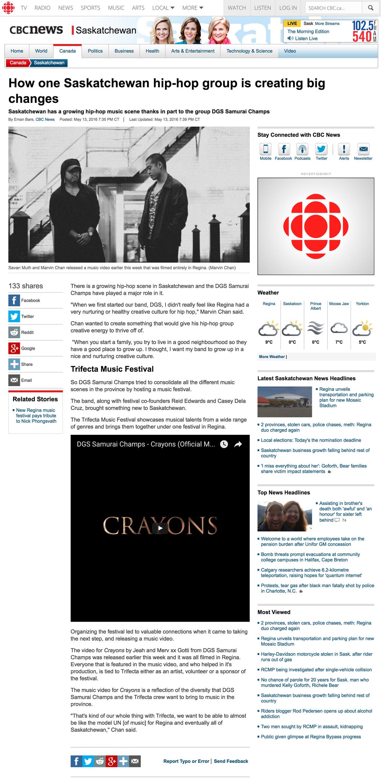 How one Saskatchewan hip hop group is creating big changes | CBC-2.jpg