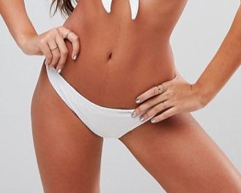 White bikini pants