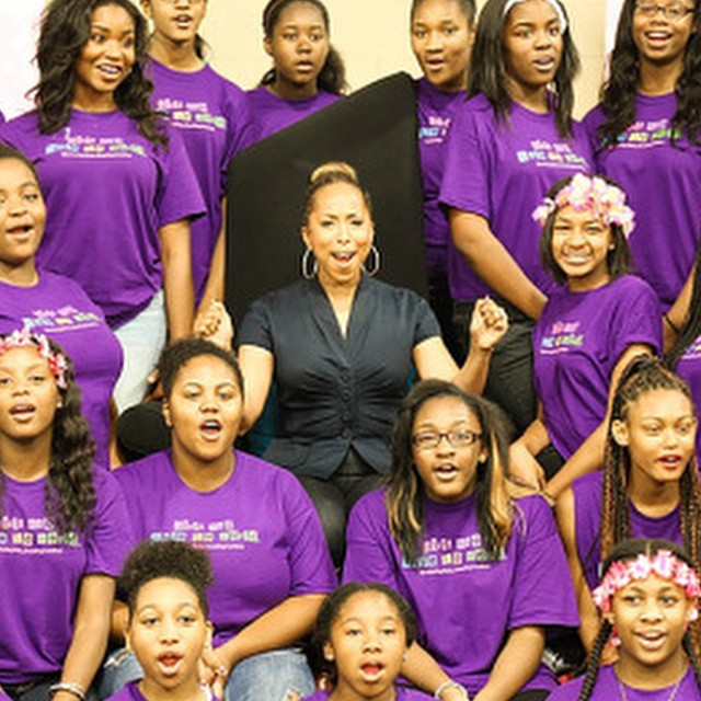 @kendrakabasele captures @marjorie_harvey as she celebrates her mentees at the 2014 Girls Who Rule the World mentoring weekend put on by The Steve & Marjorie Harvey Foundation. 📷 by @kendrakabasele