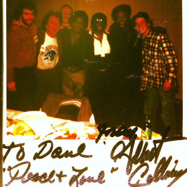 Long-haired Dave with Albert Collins and friends.