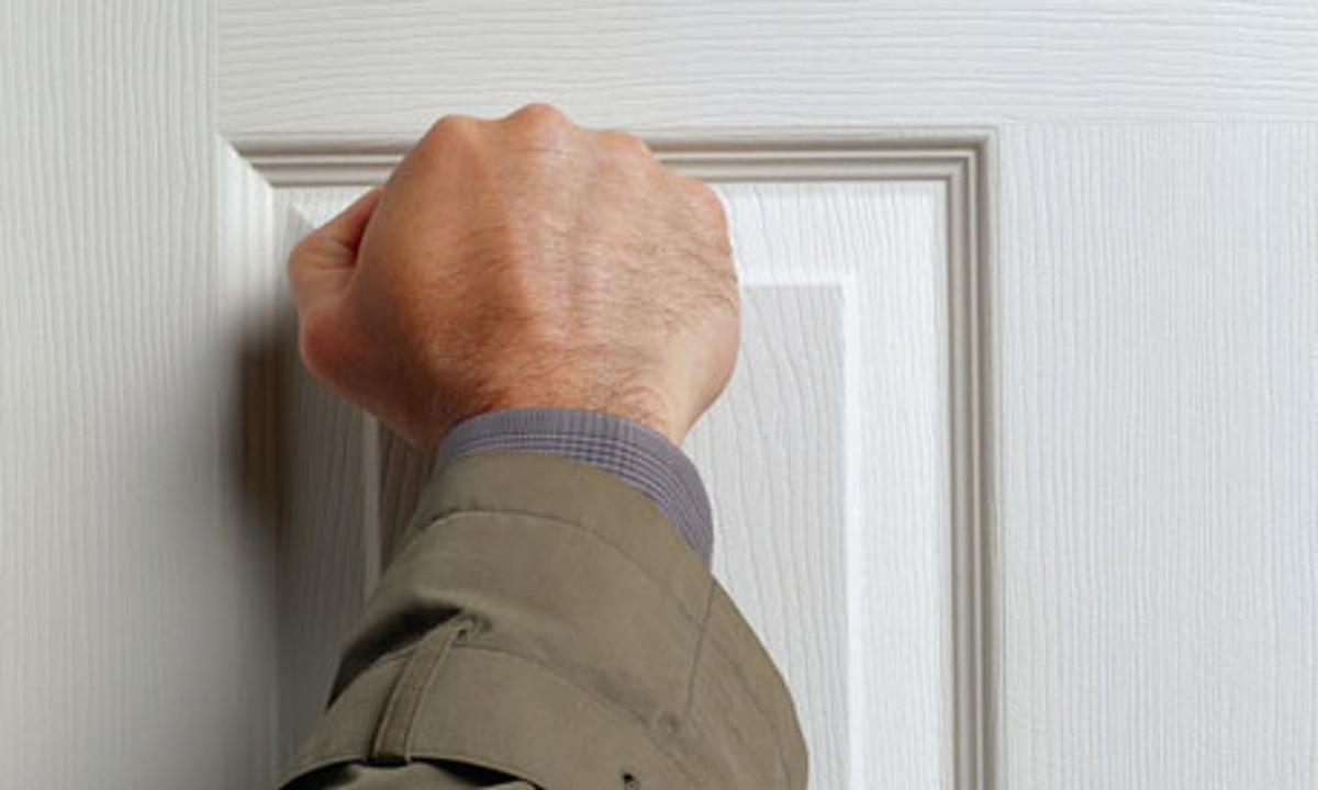 knocking on doors sales
