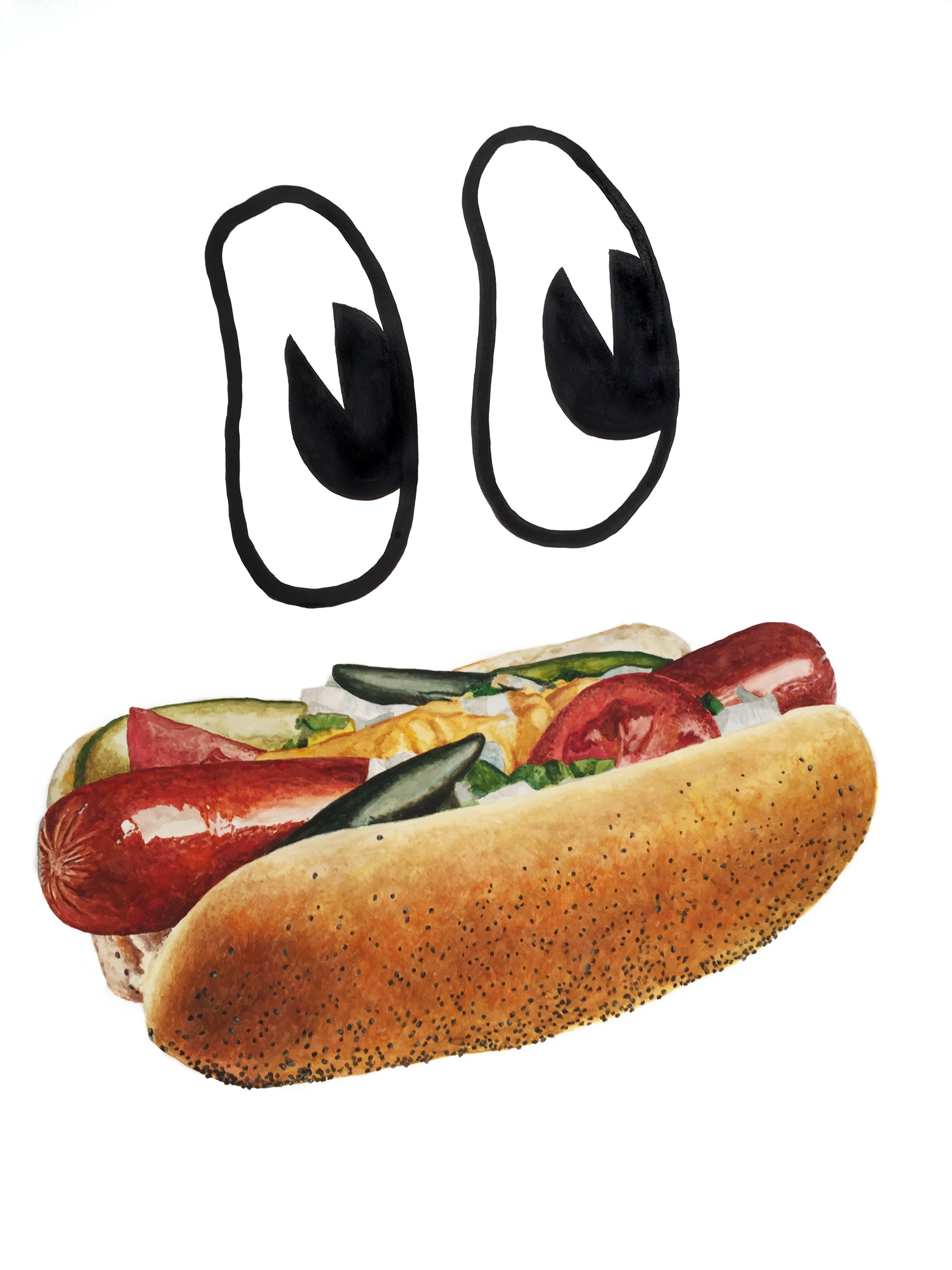 Hotdog Face