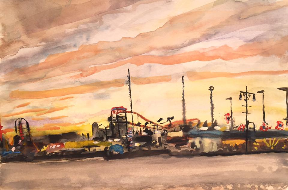 Coney Island Sunset No.1