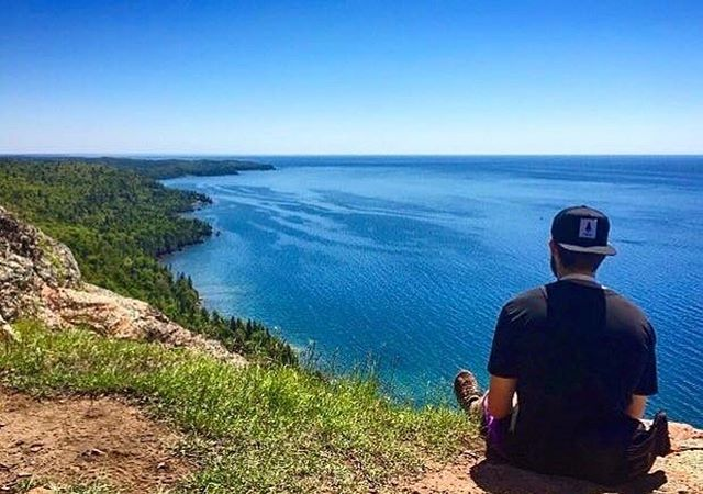 These Great Lakes never fail to amaze! Loving the view from @janetfrood on Lake Superior! Have you been exploring the region this summer? We want to see what you've discovered about our shared backyard! Plus don't forget this Saturday is our 4th annual Love Your Greats Day! So get out there to show them some care wherever you are & in whatever way you can! Share your photos & videos with us by using #loveyourgreats for a chance to win an LYG T-Shirt or Long Sleeve 💙🌊