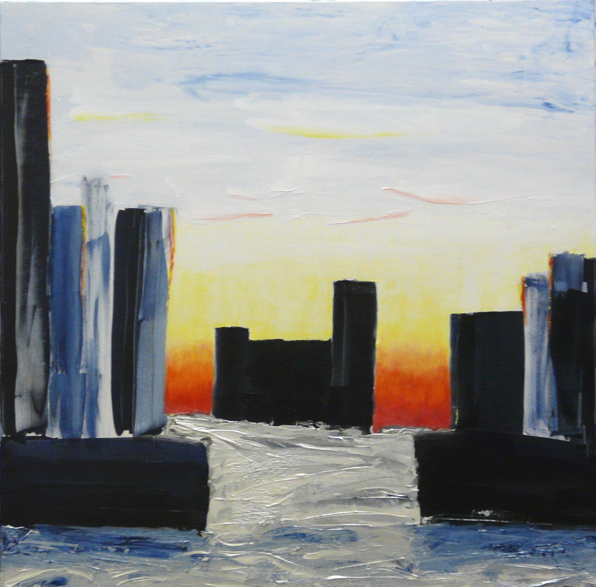 City, Foggy Sunrise