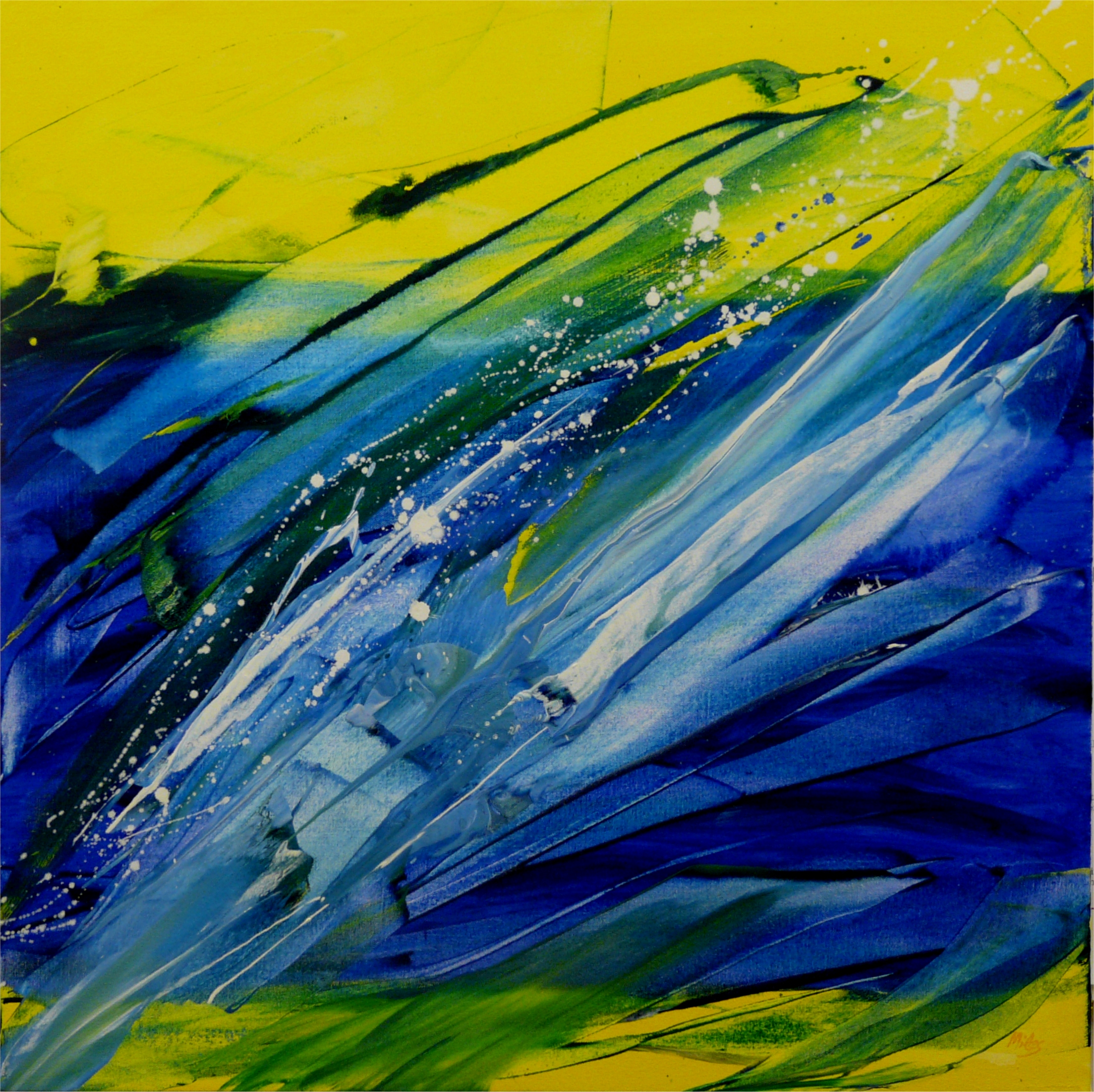 Blue and Yellow = Spring No. 3