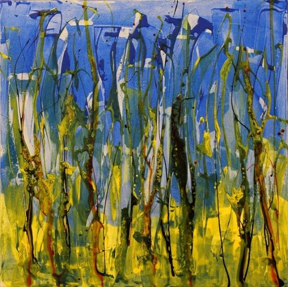 Swampland, 30x30, acrylic, $600.