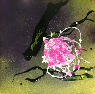 Pink Solitary, 10x10, $200