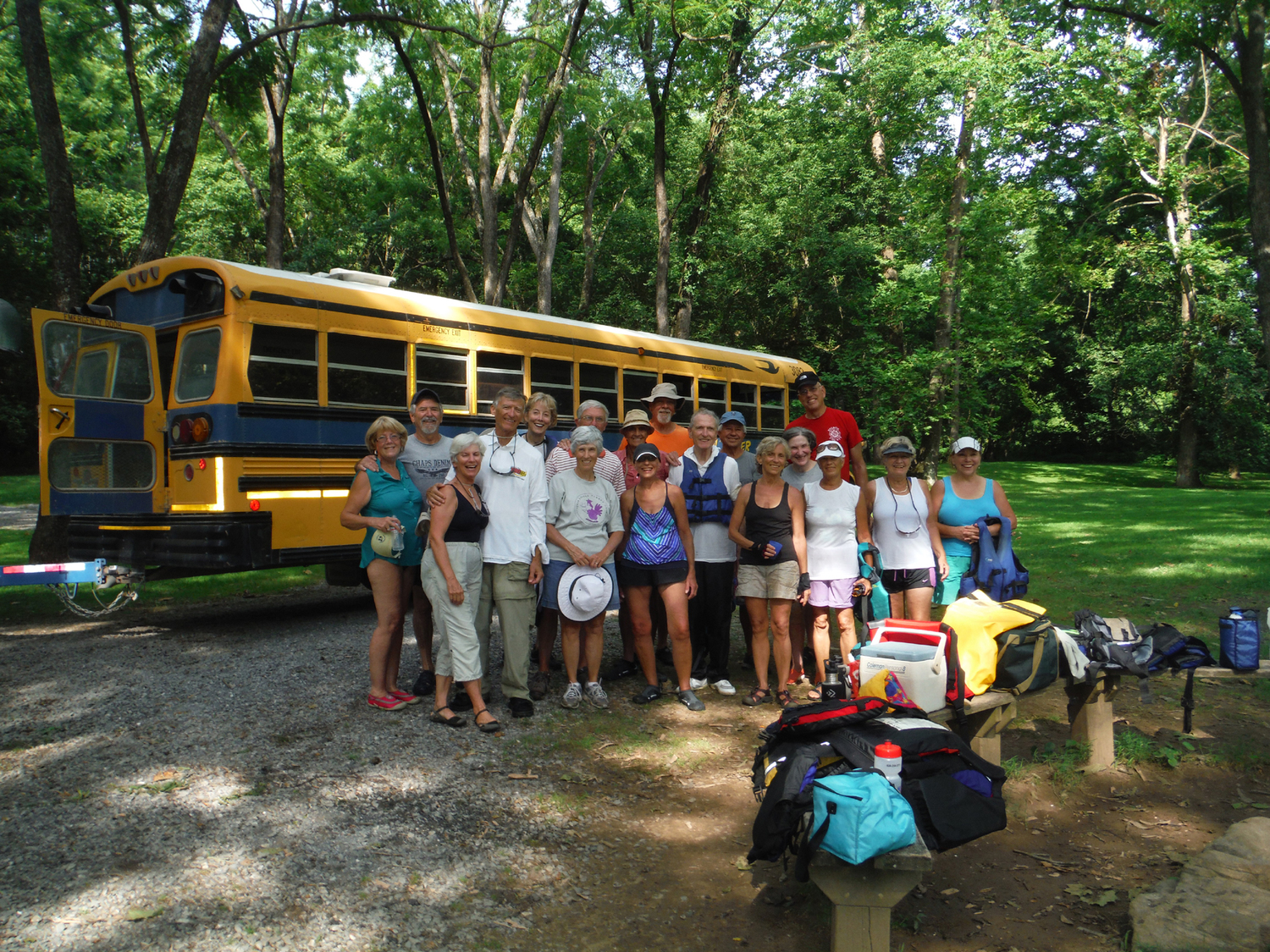 Sixteen WSC members had a good adventure down the South fork of the Shenandoah River on July 20, 2016.