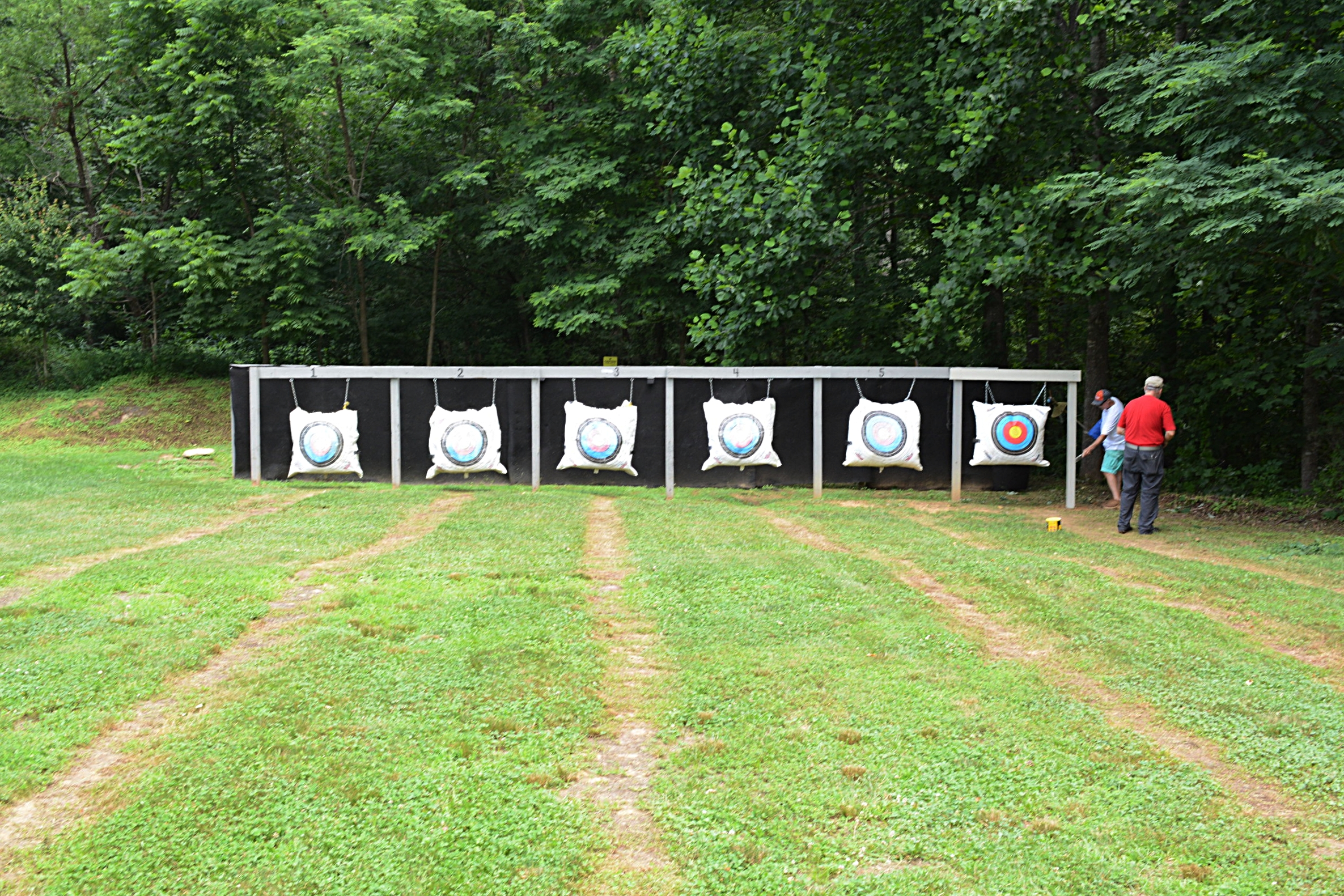 The Rodes Farm Archery Range now has six targets.